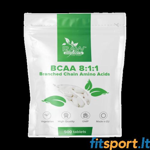 Raw Powders BCAA 8:1:1 500 tab. - 166 porcijos