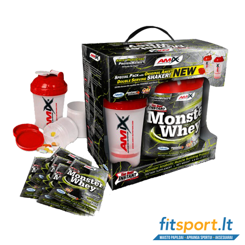 Amix Anabolic Monster Whey protein 2000 g + 200 g nemokamai!