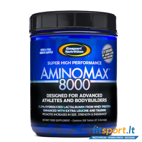 Gaspari Aminomax 8000 350 tab USA original + dovanos