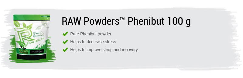 Raw Powders Phenibut 100 g - 250 porcijų